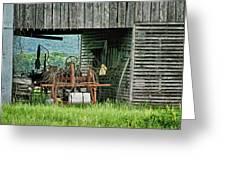 Old Tractor - Missouri - Barn Greeting Card