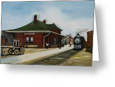 Old Train Station Greeting Card