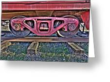Old Train Wheels Greeting Card