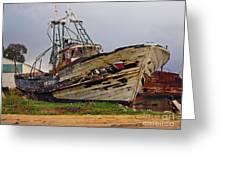 Old Trawler Greeting Card