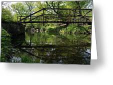 Old Trestle Bridge Greeting Card