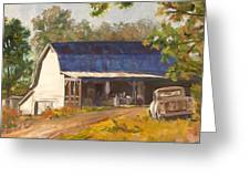 Old Truck And Barn Greeting Card