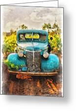 Old Truck At The Winery Greeting Card