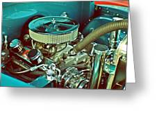 Old Truck Engine Greeting Card