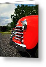 Old Truck Grille Greeting Card