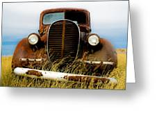 Old Truck In Field Greeting Card