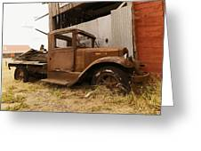Old Truck In Old Forgotten Places Greeting Card