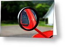 Old Truck Mirror Reflection Greeting Card