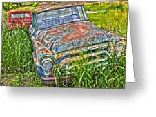 001 - Old Trucks Greeting Card