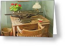 Old Underwood Typewriter Greeting Card