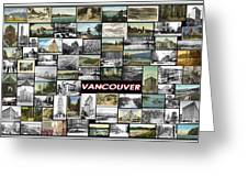Old Vancouver Collage Greeting Card