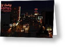Old Vegas Greeting Card