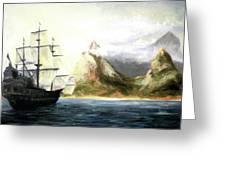 Old Vessel Greeting Card