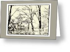 Old Victorian In Winter Greeting Card
