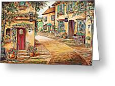 Old Village 3 Greeting Card