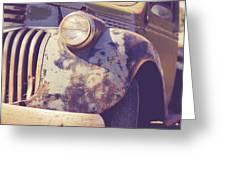 Old Vintage Pickup Truck Utah Square Greeting Card