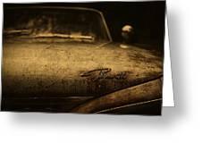 Old Vintage Plymouth Car Hood Greeting Card