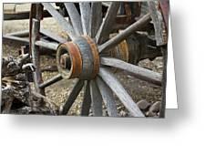 Old Waagon Wheel Greeting Card
