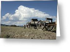 Old Wagon Out West Greeting Card