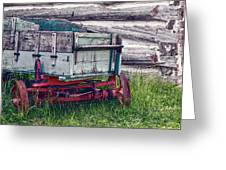Old Wagon Outside Belgian Farm Greeting Card