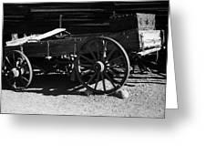 Old Wagon Greeting Card