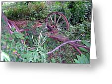 Old Wagon Wheels 2 Greeting Card