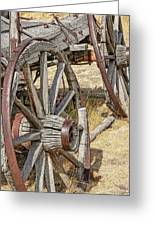 Old Wagon Wheels From Montana Greeting Card