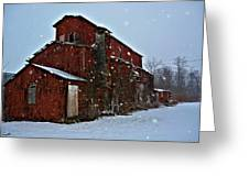 Old Warehouse Greeting Card