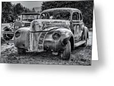 Old Warrior - 1940 Ford Race Car Greeting Card