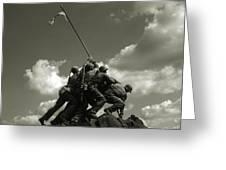 Old Washington Photo - Iwo Jima War Memorial Greeting Card