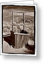 Old Well Bodie Ghost Twon California Greeting Card