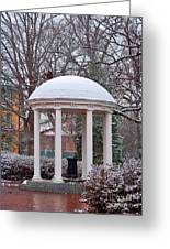 Old Well In The Snow Greeting Card