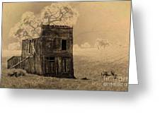 Old West Building Greeting Card by Ron Hoggard