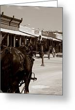Old West Greeting Card