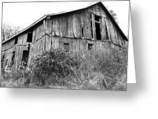 Old West Virginia Barn Black And White Greeting Card