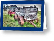 Old West Wagons Greeting Card