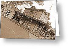 Old Western Town Greeting Card