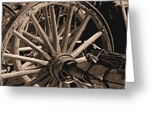 Old Western Wagon # 5 Greeting Card