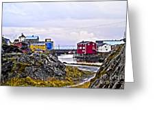 Old Whaling Village Nyksund Greeting Card
