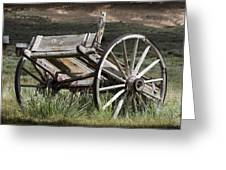 Old Wheels Greeting Card