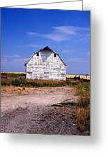 Old White Barn Greeting Card