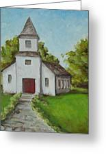Old White Church In The Texas Hill Country Greeting Card
