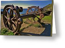 Old Winch Tintagel Greeting Card
