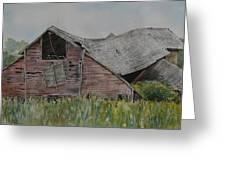 Old Wisconsin Barn Greeting Card