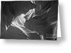 Old Woman In The Canyon Black And White Greeting Card