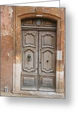Old Wood Door - France Greeting Card