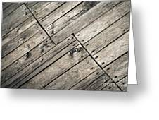 Old Wooden Boards Nailed Greeting Card