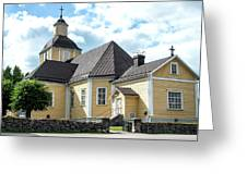 Old Wooden Church  Greeting Card