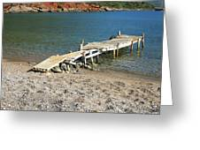 Old Wooden Dock Greeting Card