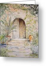 Old Wooden Door Greeting Card